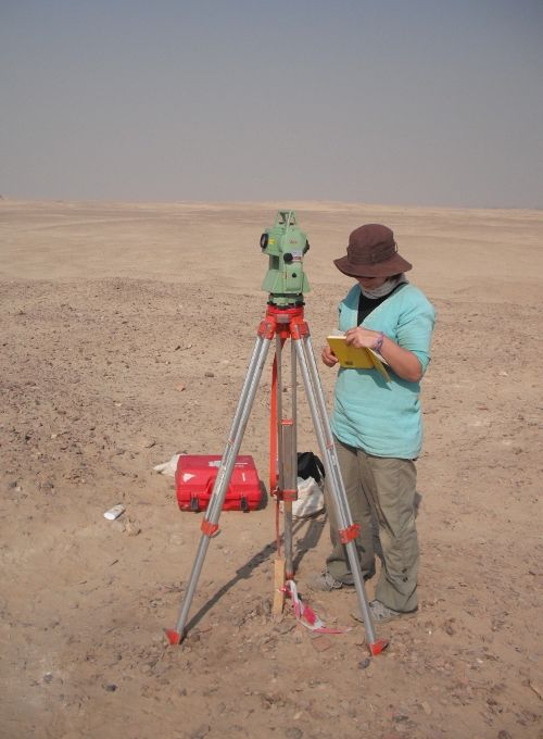 Surveying at Gurob